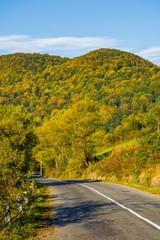 asphalt road in mountainous countryside