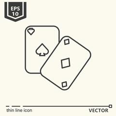 Casino theme. Vector single isolated icon.