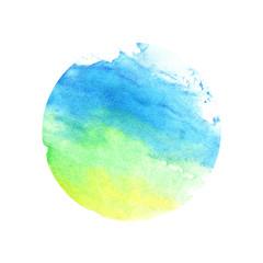Watercolor green-blue circle