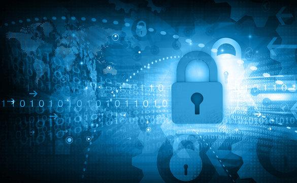 Internet security concept. 3d illustration .