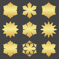 Abstract element for design, gold  decoration, frame.