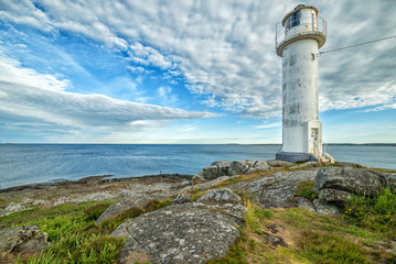 Photo sur Aluminium Phare Swedish lighthouse in morning light