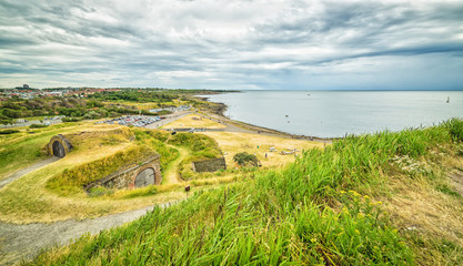 Panoramic landscape from Varberg's fort