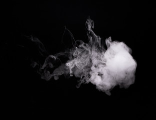 White smoky cloud of electronic cigarette