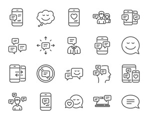 Message and Communication icons. Group chat.