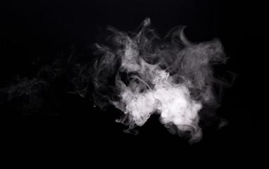 White cloudy smoke of vape electronic cigarette