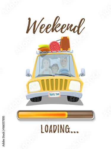 Holidays loading poster template with yellowfotolia holidays loading poster template with yellow voltagebd Choice Image