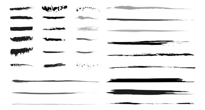 Sammlung Pinselstriche als grafische Elemente als Vektoren
