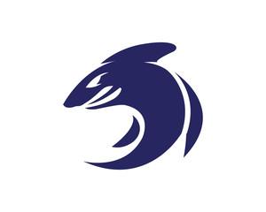 Shark illustration Logo Template Vector.