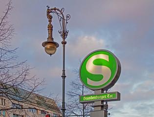 Berlin Brandenburger Tor S-Bahn-Schild