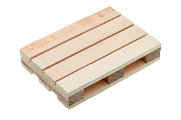 The wood pallet isolated.