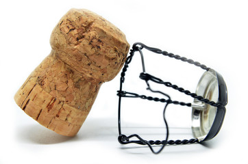 Cork from champagne bottle