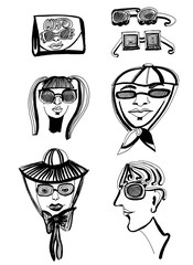 design of sunglasses. Creative abstraction