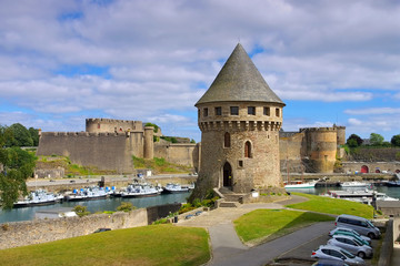 Brest Burg in der Bretagne, Frankreich - Brest castle and Tanguy tower in Brittany