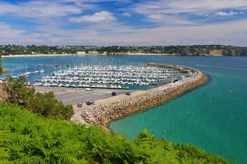 Morgat Marina in der Bretagne - Morgat Marina near Batterie du Kador in Brittany, France