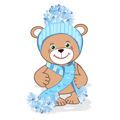 Teddy bear in hat
