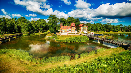 Saarema Island, Estonia: Kuressaare Episcopal Castle in the summer