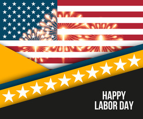 Labor day card design, vector illustration.