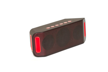 mini bluetooth loudspeaker on white background