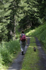 Escursione in montagna con il cane