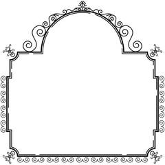 Vintage style decorative ornamental frame design