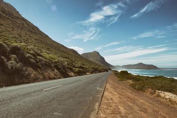 Road by beach