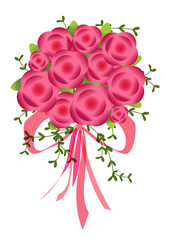 Vector illustration. EPS 10. Beautiful bouquet isolated on background in a flat style. Flat flowers greeting card.