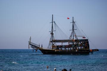 pirate ship  turkey beach