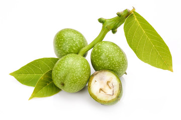 young green walnut