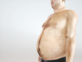 Overweight man - 3D Rendering