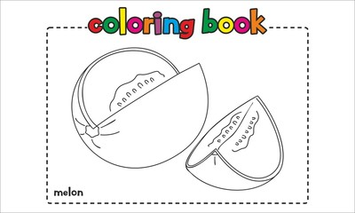 Melon Coloring Book