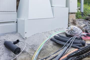 Bauarbeiten für schnelles Internet