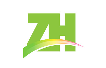 ZH Initial Logo for your startup venture