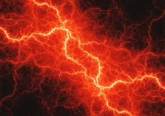 Hot orange lightning, plasma power