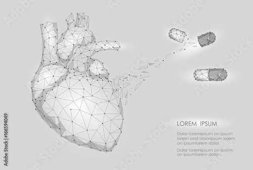 Human Heart Medicine Treatment Drug Internal Organ Triangle