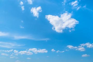 初夏の青空と雲1