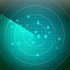 Futuristic Radar Vector. Territory With Smooth Light Beneath.