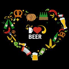 heart beer logo objects