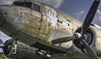 The Douglas C-47B Skytrain (DC-3 Dakota) transport aircraft