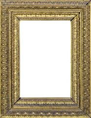 Cornice dorata con decorazione barocca