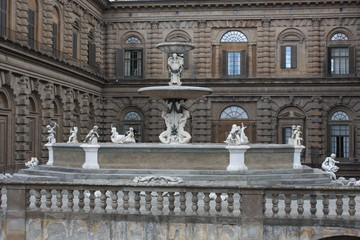 View of the Palazzo Pitti in Florence - Italy with some amasing details.