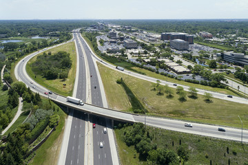 Highway and Ramp Aerial