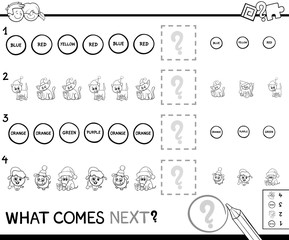 educational pattern game coloring page