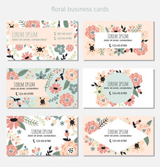 6 floral cards