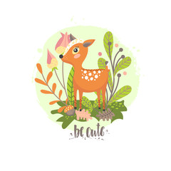 Cartoon deer child illustration