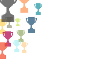 Hintergrund aus bunten Pokalen