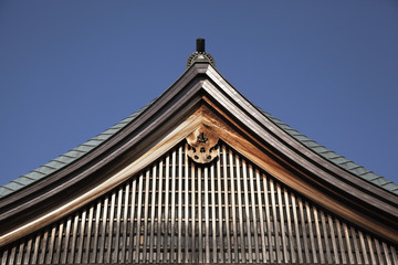 Japanese Temple Roof Against The Sky