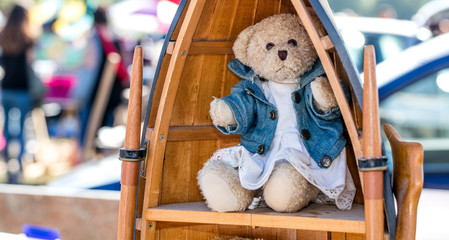 beautiful dressed up teddy bear for nostalgia second hand use