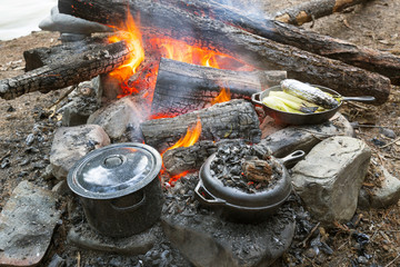 Cast Iron Campfire Cooking