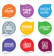 Abstract modern vector label collection